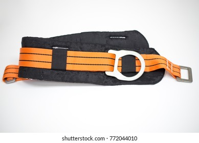 safety harness equipment for work at heights on a white background