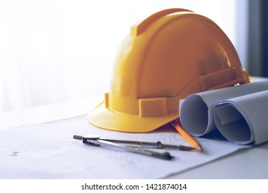 safety helmet hat for safety project of workman as engineer