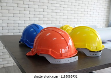 Safety helmet red,blue and yellow for foreman /engineer/architect/visitor use in construction site for safety work,worker,industry