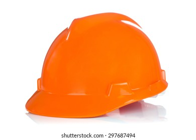 Safety helmet with shadows isolated on white background
