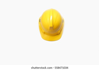Safety helmet with white background