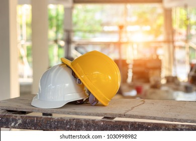 Safety helmets for workplace construction or industrial use to prevent accidents and hard hats used by engineers and professional workers in various design projects to prevent them from working.