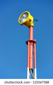 safety light pole in the airport area