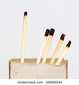 safety match box isolated on white, clipping path.