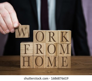 A safety message from a businessman to all workers to follow guidlines and work from home during the Coronavirus outbreak