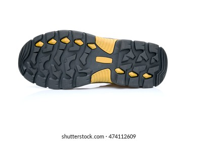 safety shoes white background.