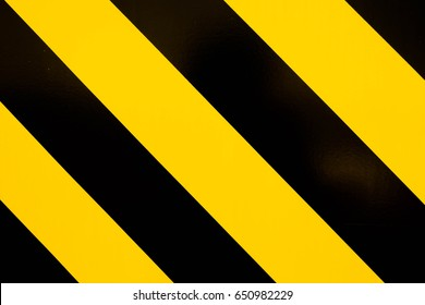 Safety sign yellow and black