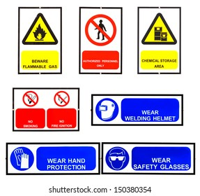 safety signs broad with clipping path