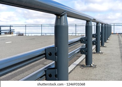 Safety Traffic barrier painted steel construction