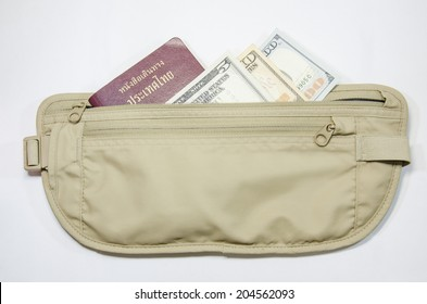 safety waist pouch for traveler and money and passport