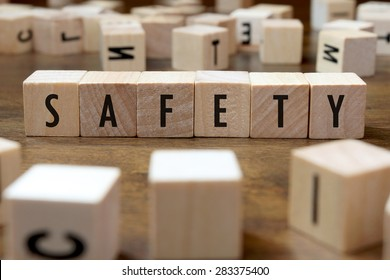 safety word written on wood block