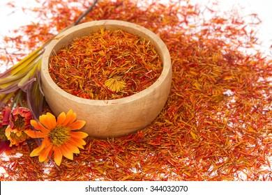 Safflower, False Saffron, Saffron Thistle (Carthamus tinctorius Linn.)
