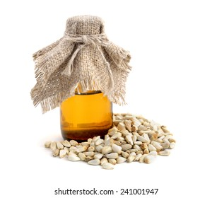 Safflower seeds oil isolated.