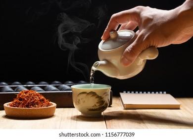 safflower tea reduce chloresterol
