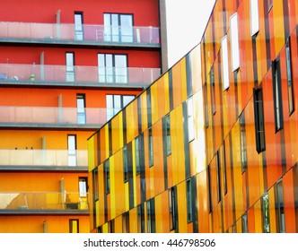 Saffron buildings