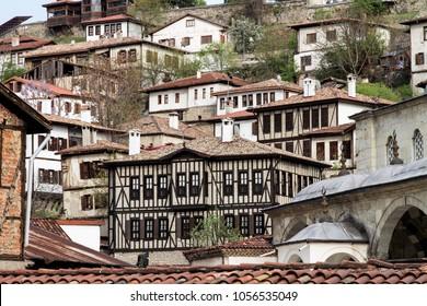 Safranbolu cityscape. Safranbolu is a town and district of Karabuk Province in the Black Sea region of Turkey.