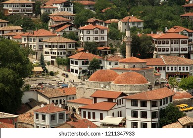 SAFRANBOLU, KARABUK, TURKEY - 30 June 2013. A view of historical Safranbolu houses from the Hidirlik hill in the town,  Karabuk Turkey.
