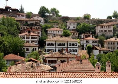 SAFRANBOLU, KARABUK, TURKEY - 30 June 2013. A view of historical Safranbolu houses from the roof of the historical Cinci Inn, Karabuk Turkey.