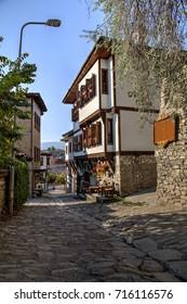 Safranbolu, Turkey - August 2017: Traditional ottoman houses and narrow streets of Safranbolu