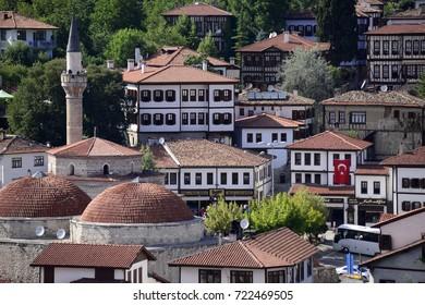 Safranbolu, Turkey,July 2017/Traditional ottoman houses and narrow streets in Safranbolu