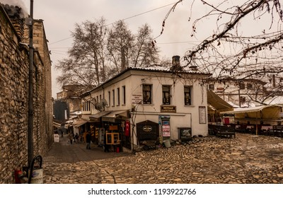 safranbolu,turkey-january 26,2017. town view with historical and old buildings in safranbolu.
