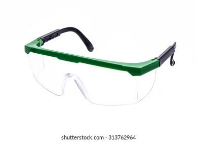 Safty glasses on isolate white background