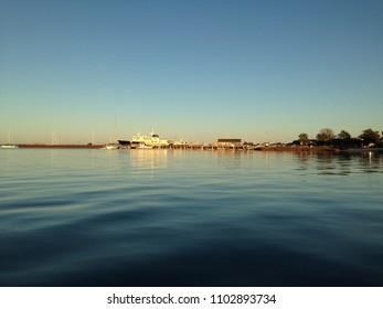 Sag Harbor, NY / USA - 06 20 2017: water view