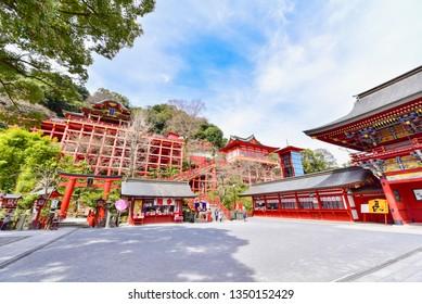 Saga, Japan - MARCH 17, 2019: Yutoku Inari Shrine, Famous Japanese Shrine in Saga Prefecture