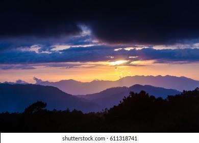 Sagada, Philippines, sunset