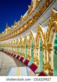 Sagaing, Sagaing hill pagoda, religious site in Mandalay in Myanmar (Burma)