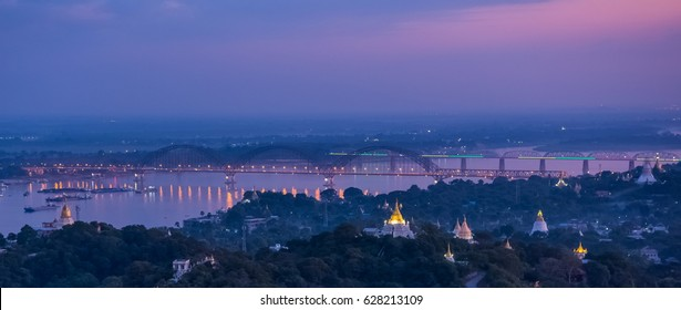 Sagaing Irrawaddy River Ava Bridge