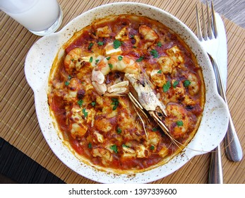 saganaki greek food shrimp fresh seafood greek island mediterranean diet prawn sauce