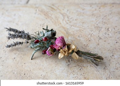 Sage & Lavender Smudge Sticks with Herbs and Dried Flowers