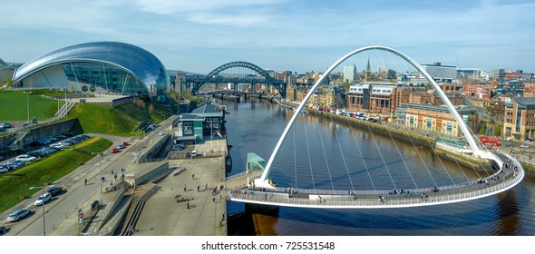 The Sage Millennium and Tyne Bridge Panorama