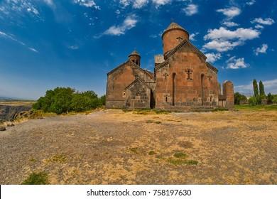 Saghmosavank monastery Kasagh river gorge near Erevan in Armenia