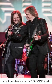 Saginaw, MI / USA - March 20, 2018:  Ricky Phillips and James Young with Styx perform live at the Dow Event Center.