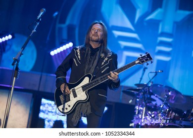 Saginaw, MI / USA - March 20, 2018: Ricky Phillips with Styx performs live at the Dow Event Center.