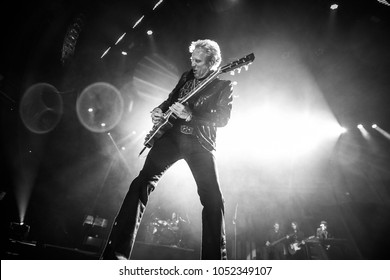 Saginaw, MI / USA - March 20, 2018:  Don Felder, on tour with REO Speedwagon and Styx, performs live at the Dow Event Center.