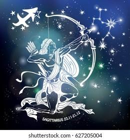 sagittarius images, stock photos & vectors | shutterstock