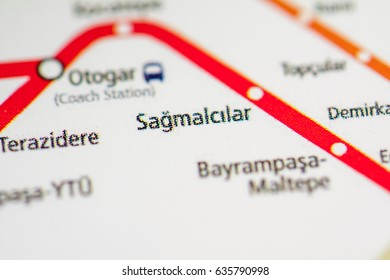 Sagmalcilar Station. Istanbul Metro map.
