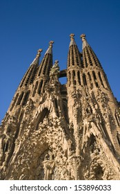 Sagrada Familia, iconic and beautiful fairy tale Cathedral in Barcelona.