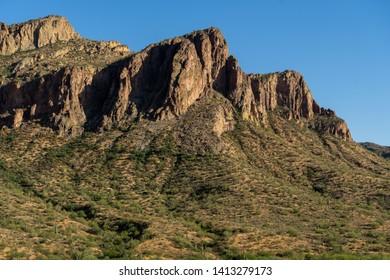 Saguaro Hillside leading to mountain ride, near Saguaro Lake, Phoenix