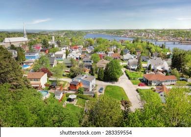 Saguenay City and River in Summer