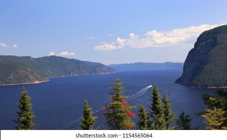 Saguenay Fjord in Quebec, Canada
