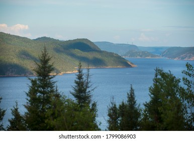 The Saguenay Fjord is shown in the Saguenay region of Quebec Canada