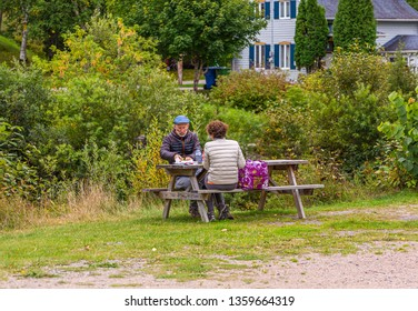 SAGUENAY, QUEBEC- September 18, 2018: Saguenay is a city in the Saguenay–Lac-Saint-Jean region of Quebec. Its economy is still strongly routed in tourism, but is transitioning to technology.