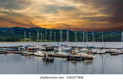 SAGUENAY, QUEBEC- September 18, 2018: Saguenay is a city in the Saguenay Lac-Saint-Jean region of Quebec. Its economy is still strongly routed in tourism, but is transitioning to technology.