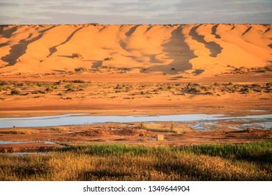 Saguia el Hamra River in Laayoune. Laayoune, Western Sahara, Morocco.