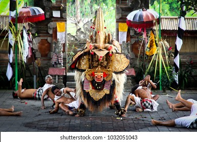 Sahadewa Barong Dance at Ubud Bali Indonesia - August 5, 2012