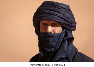 SAHARA DESERT, DJANET, ALGERIA, FEB 25: Tuareg in the Sahara desert, Djanet, Algeria, February 25, 2011. Nomadic tribes living in the desert, and a traditional lifestyle as a hundred years ago.